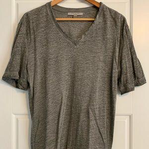 Grey Artisan Linen T-shirt